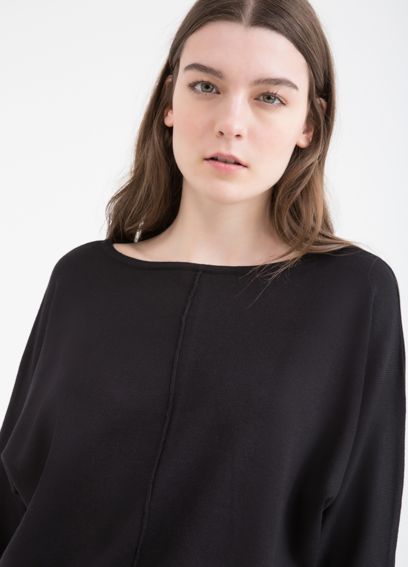 Pullover with kimono sleeves image number null