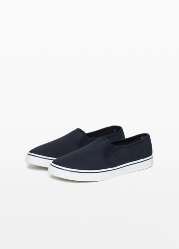 Slip-on with canvas upper
