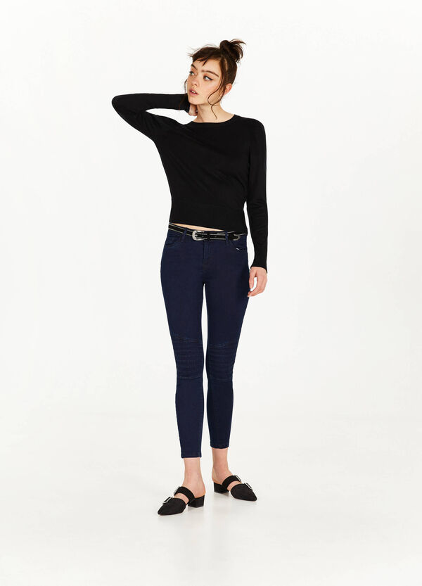Jeans skinny fit stretch impunture