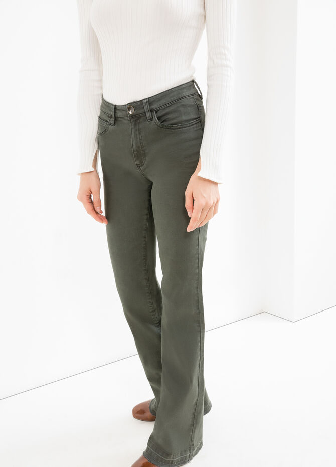 Flare-fit stretch cotton trousers