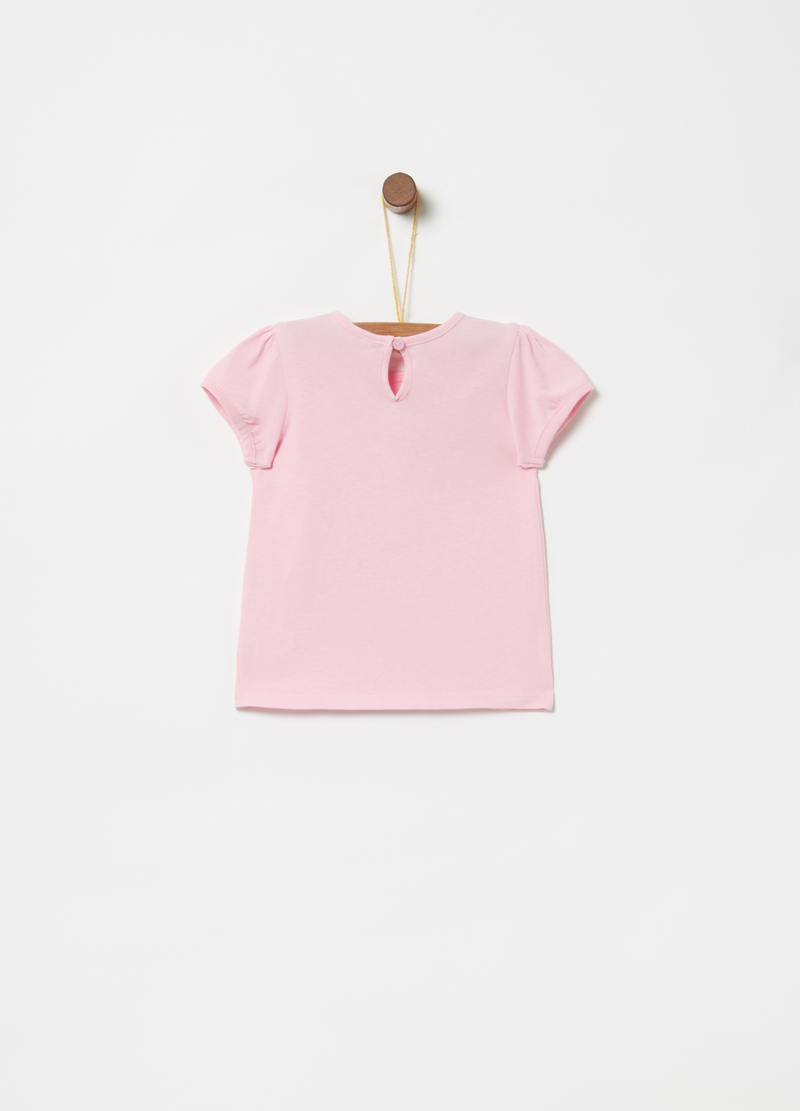 T-shirt puro cotone stampa glitter image number null
