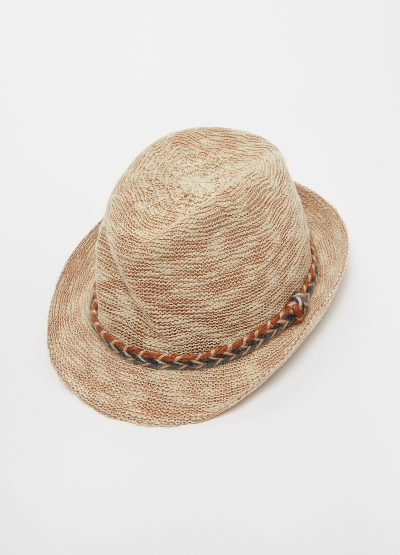Hat with woven cord image number null