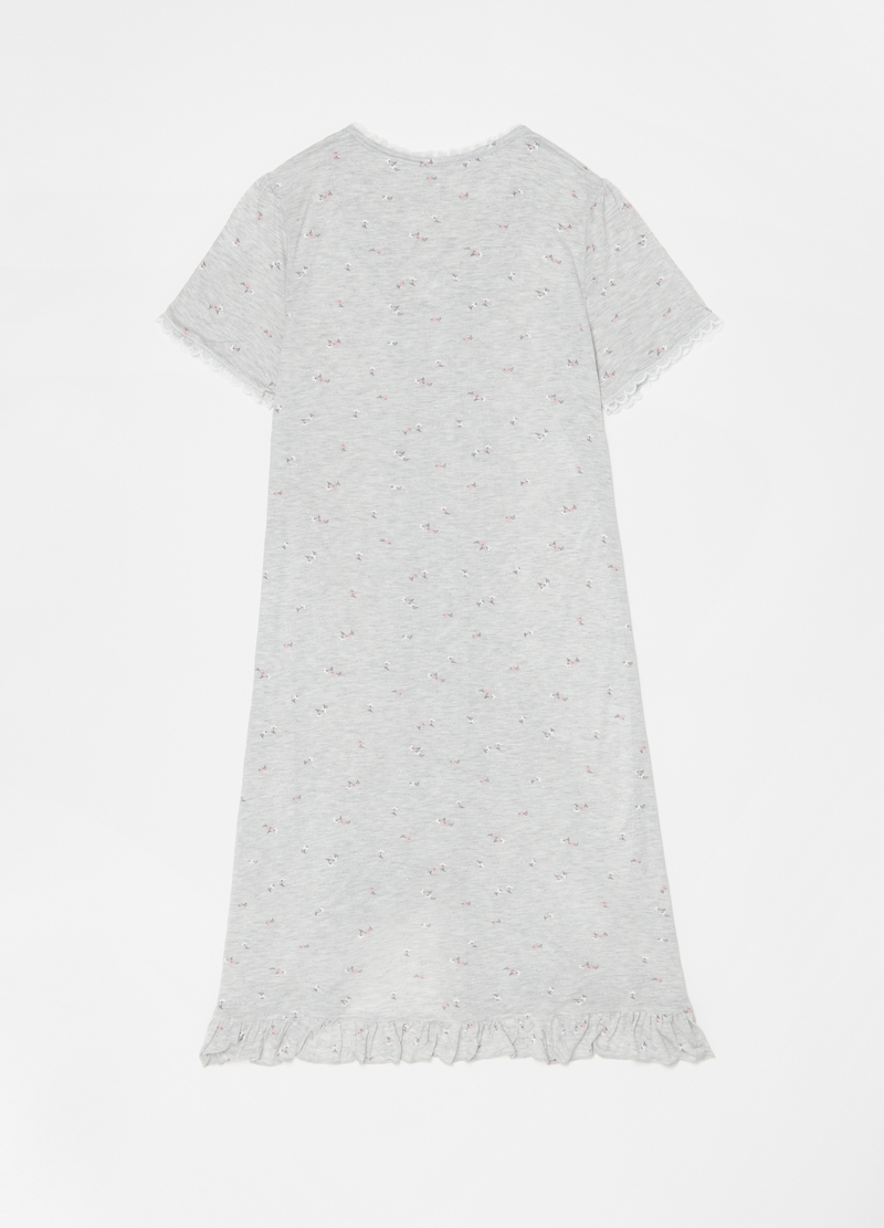 100% viscose nightdress with frills image number null