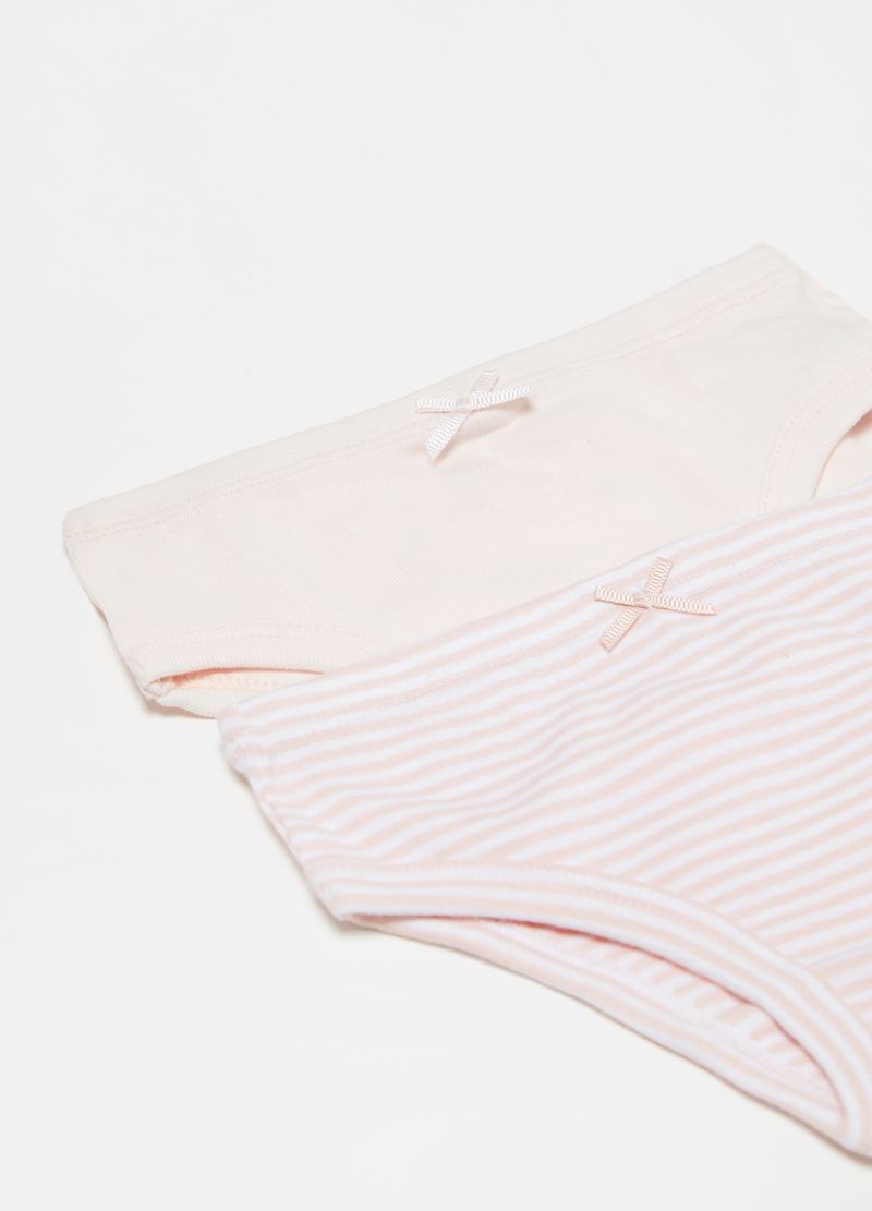 Two-pack briefs in 100% cotton with bow image number null