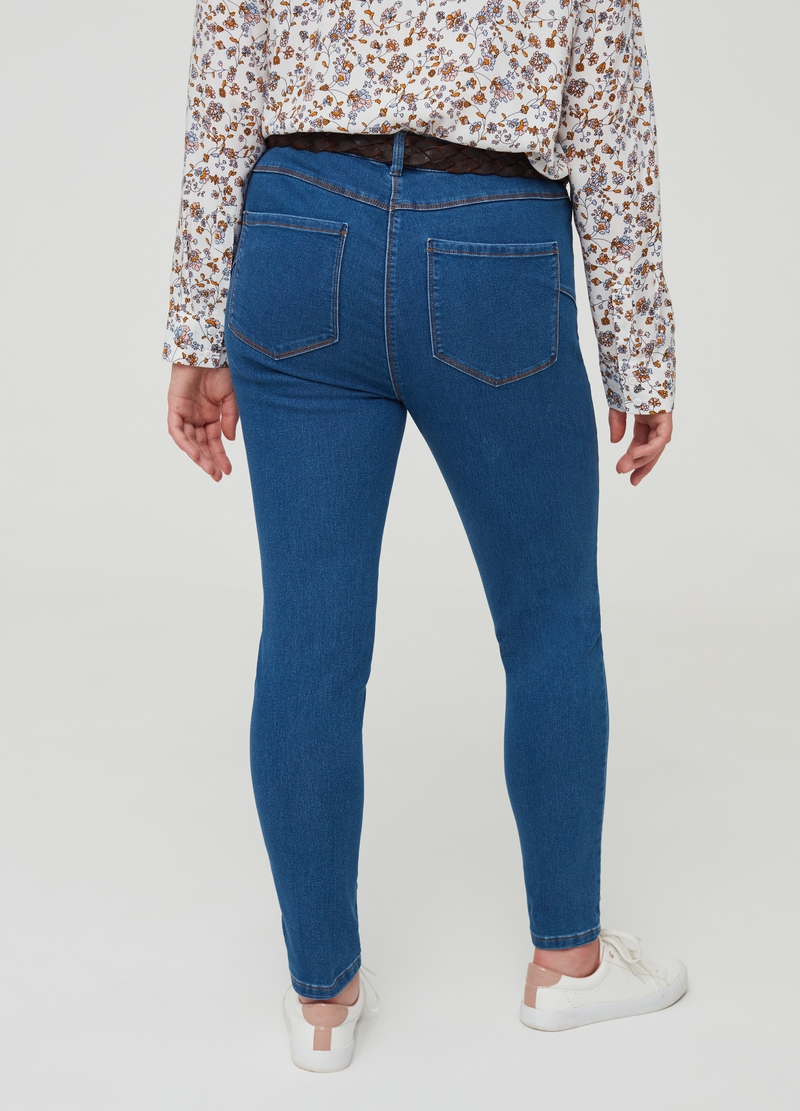 Jeans cotone stretch cinque tasche Curvy image number null