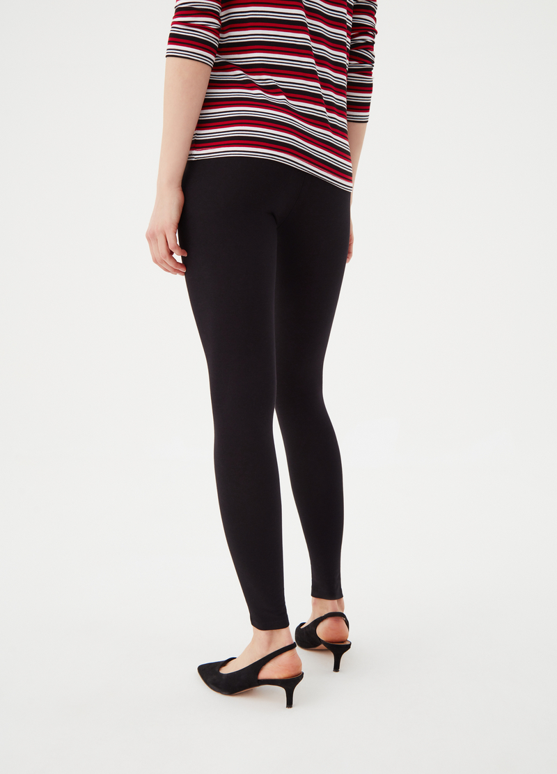 100% stretch cotton leggings image number null