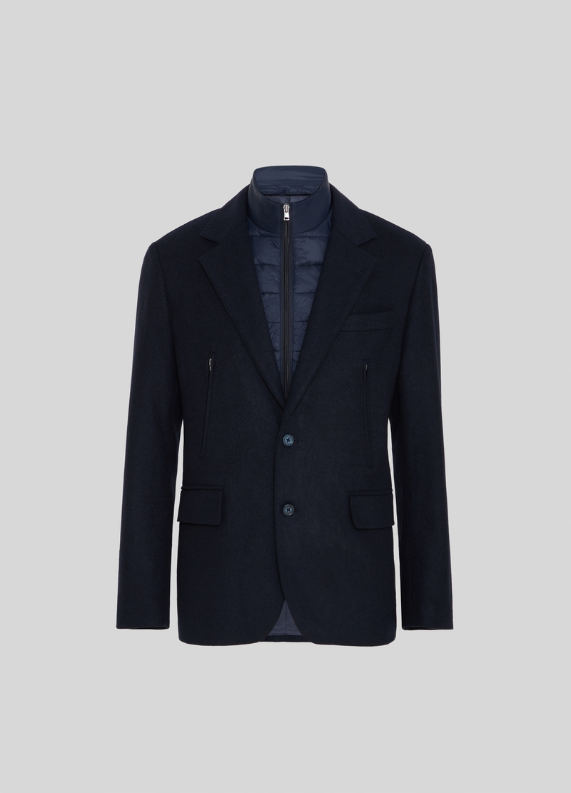 PIOMBO jacket with wool and padding image number null