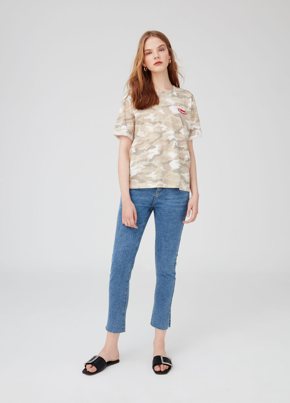 T-shirt in biocotton camouflage Earth Day