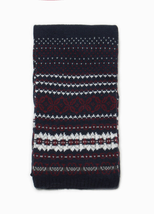 Scarf with jacquard pattern