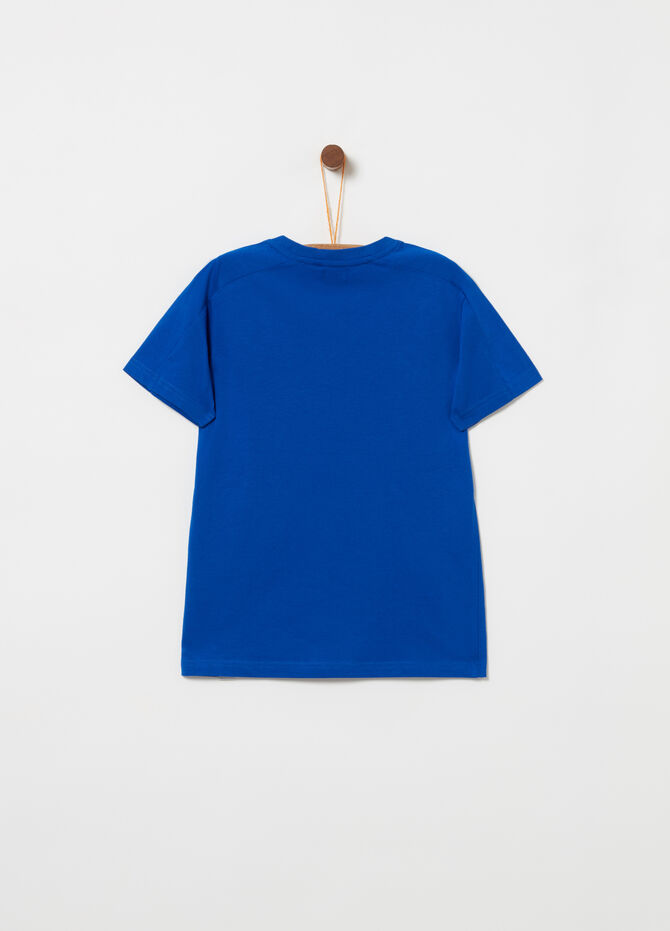 T-shirt with round neck and print