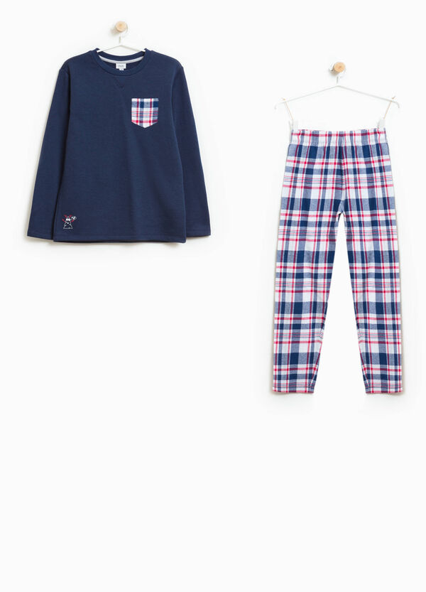 Check cotton blend pyjamas | OVS