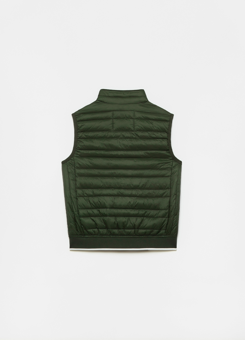 Sleeveless down jacket with high neck image number null