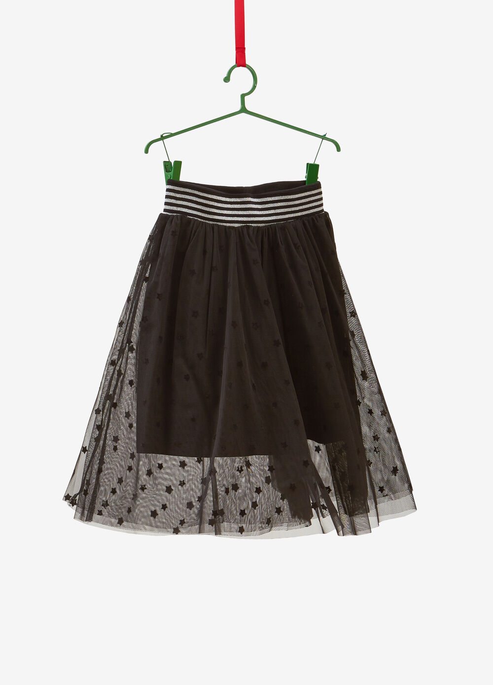 Tulle skirt with star pattern