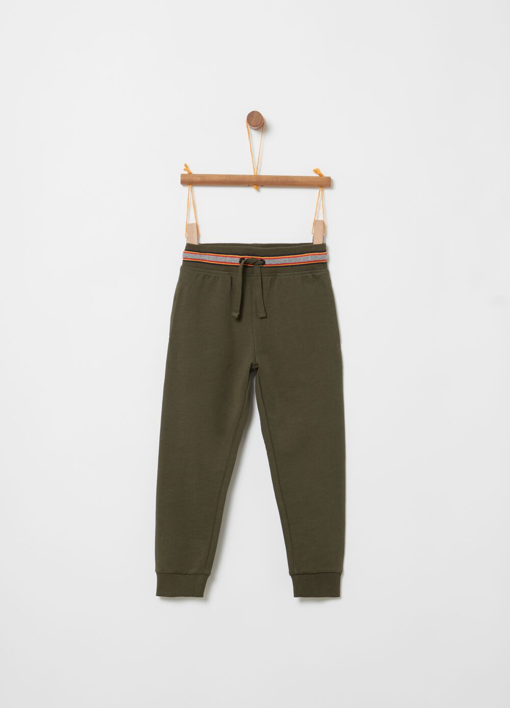 Trousers in terry towelling with pockets