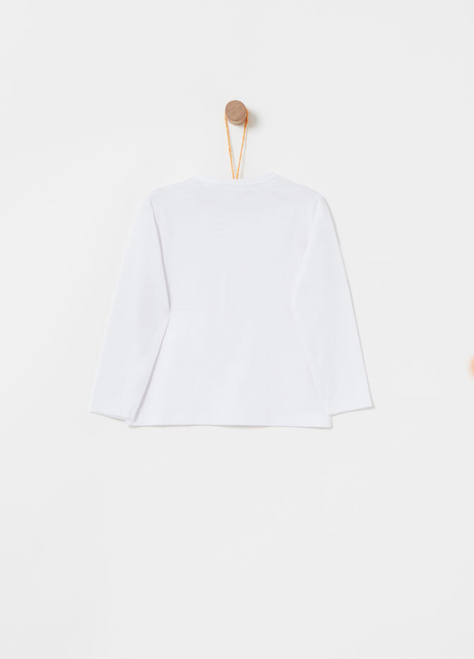 Solid colour 100% cotton T-shirt with breast pocket