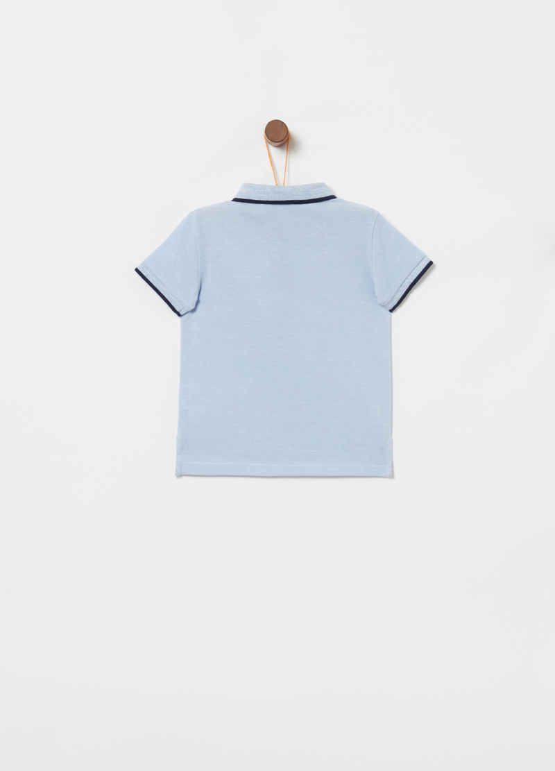 Organic cotton piquet polo shirt with pocket image number null