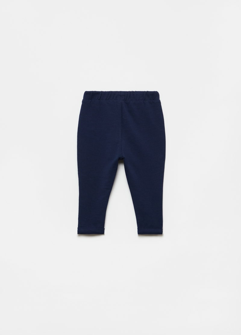 Joggers in cotone stretch con bottoni image number null