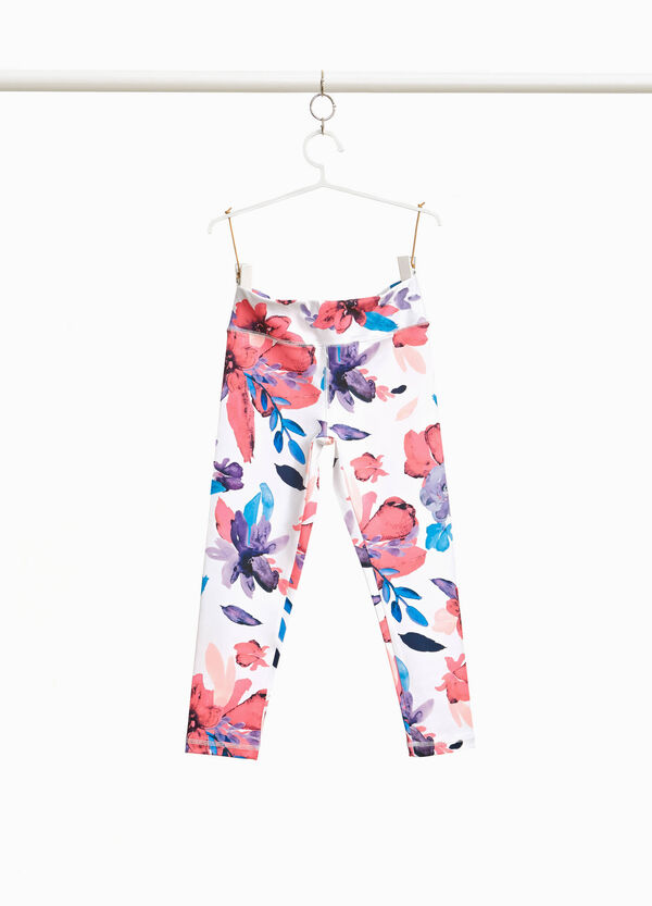 Stretch floral leggings