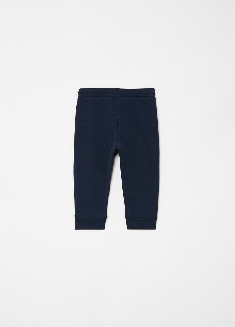 Joggers cotone bio stretch con coulisse image number null