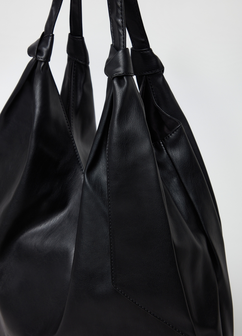 Hobo bag with knotted handles image number null
