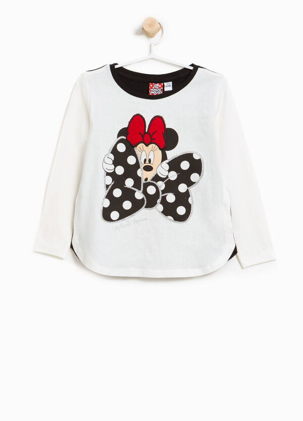 T-shirt in cotone stretch bicolore Minnie | OVS