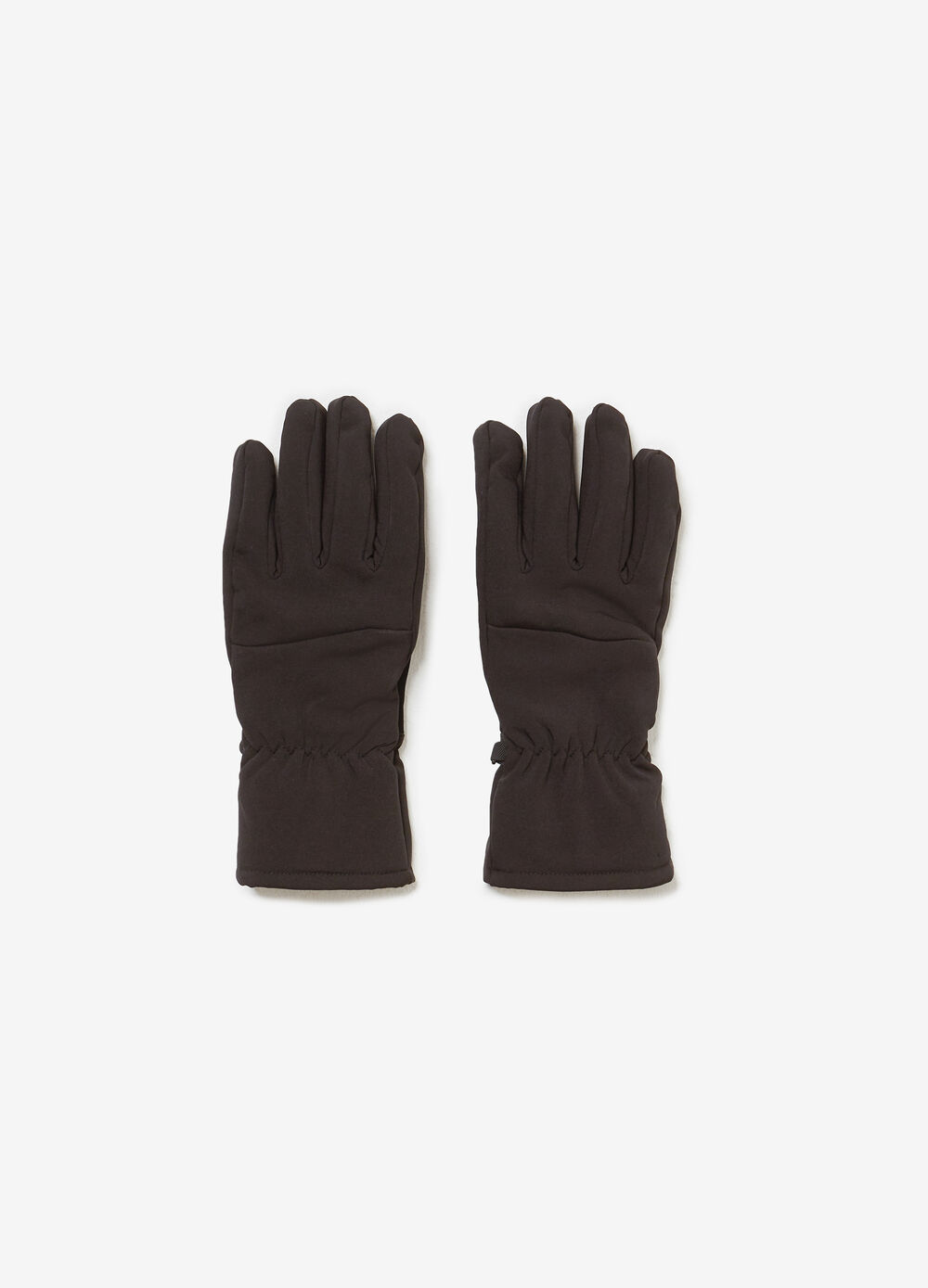 Lined touchscreen gloves with stitching