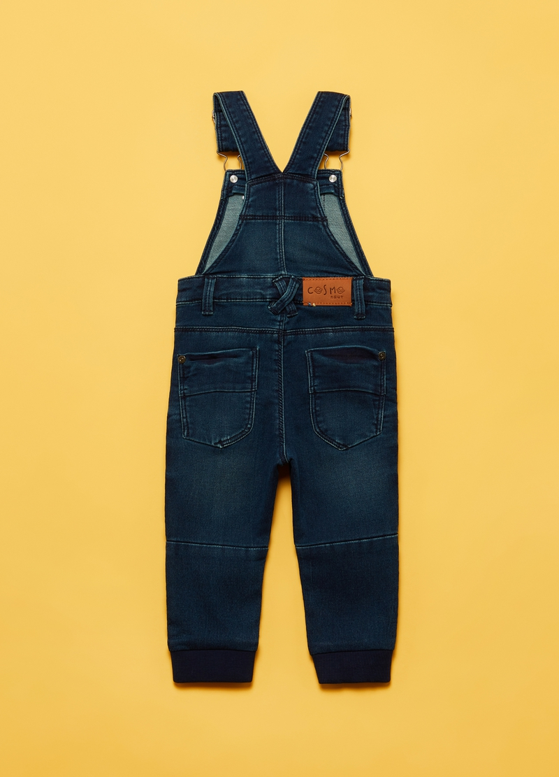 Stretch denim dungarees with pockets image number null