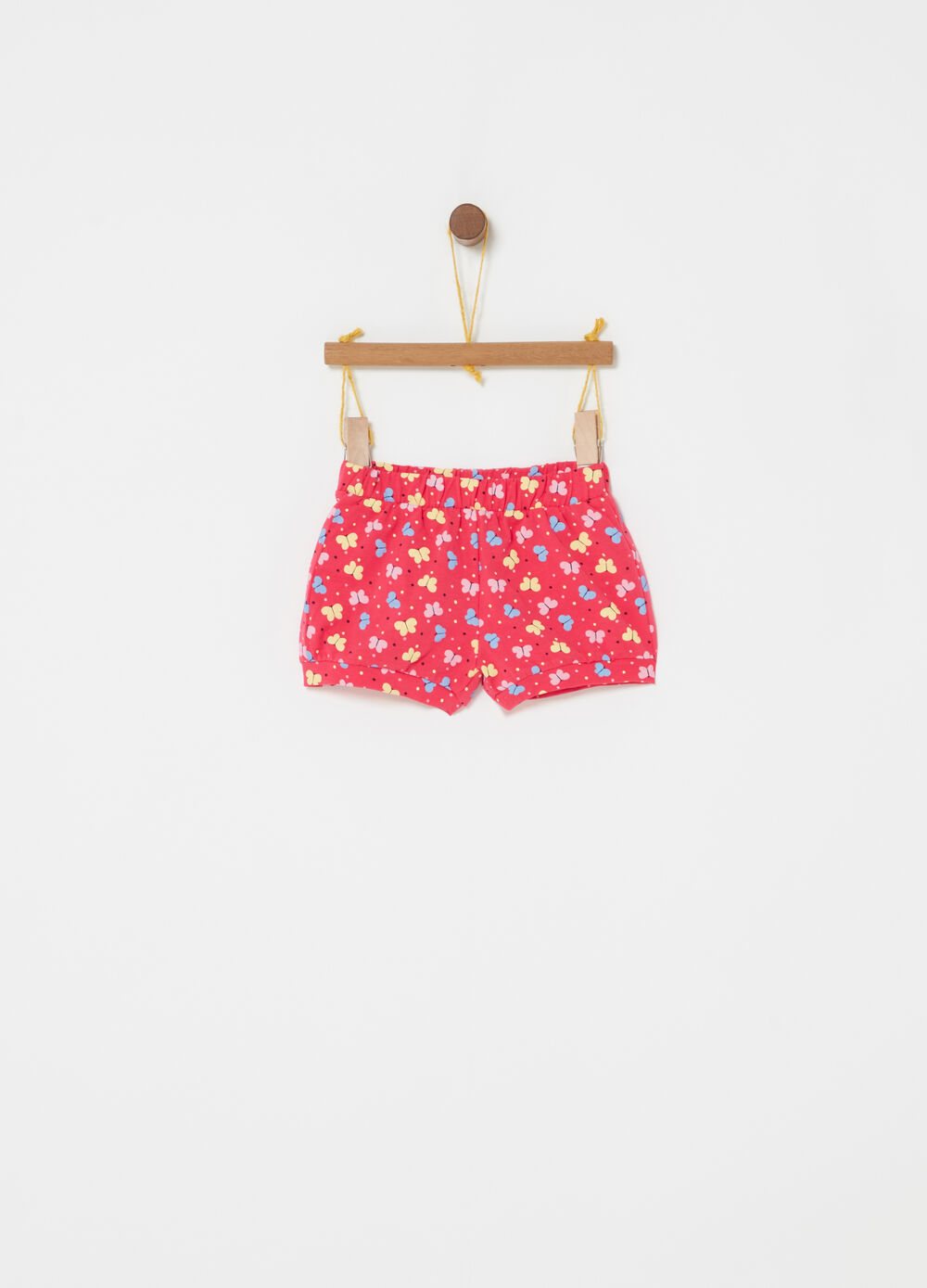 Shorts stretch con stampa