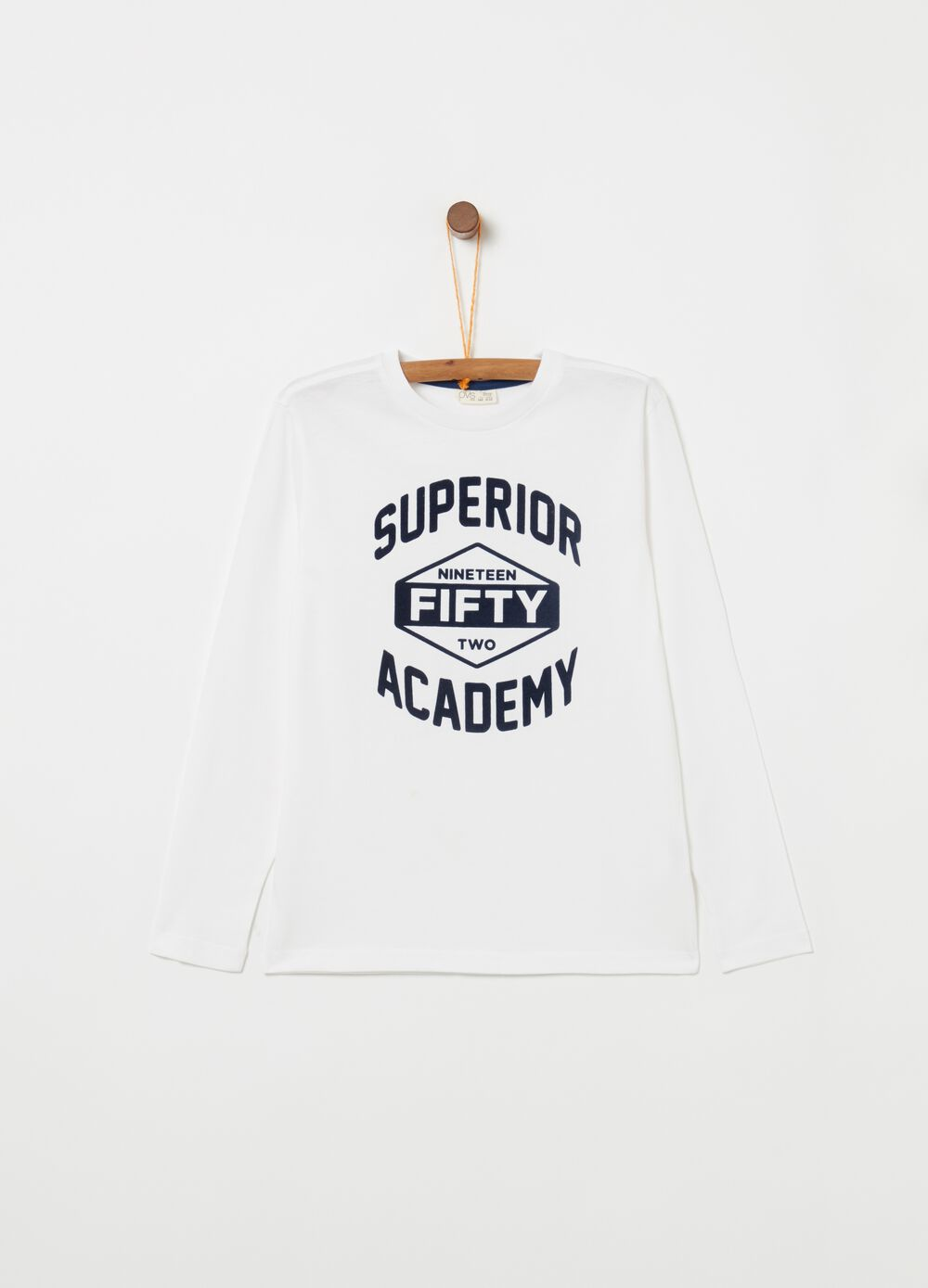 100% cotton T-shirt with long sleeves and print