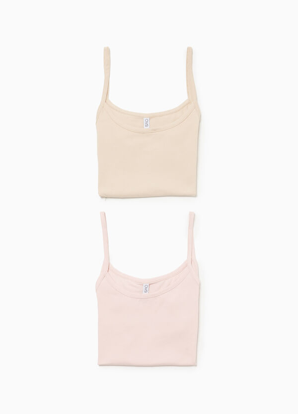 Two-pack stretch cotton under tops