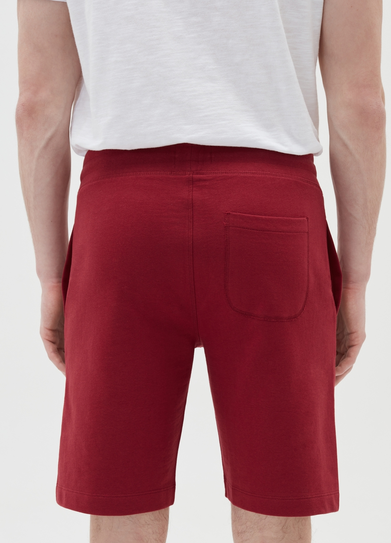 Joggers corti in cotone con coulisse image number null
