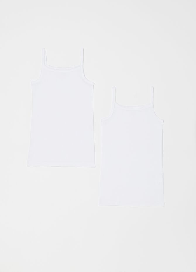 Two-pack organic cotton under tops with spaghetti straps