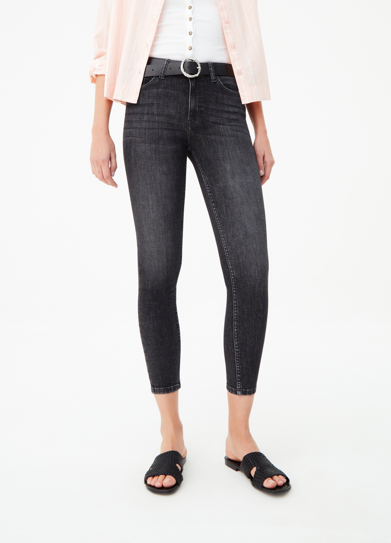 Washed-effect superskinny-fit jeans image number null
