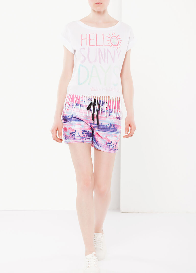 T-shirt con frange by Maui and Sons