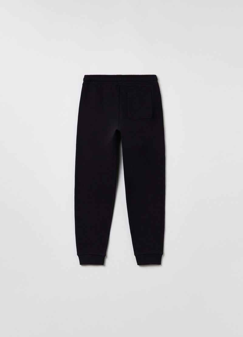 Plush joggers with drawstring image number null