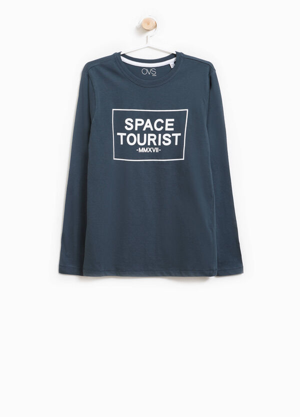 T-shirt in puro cotone stampa lettering   OVS