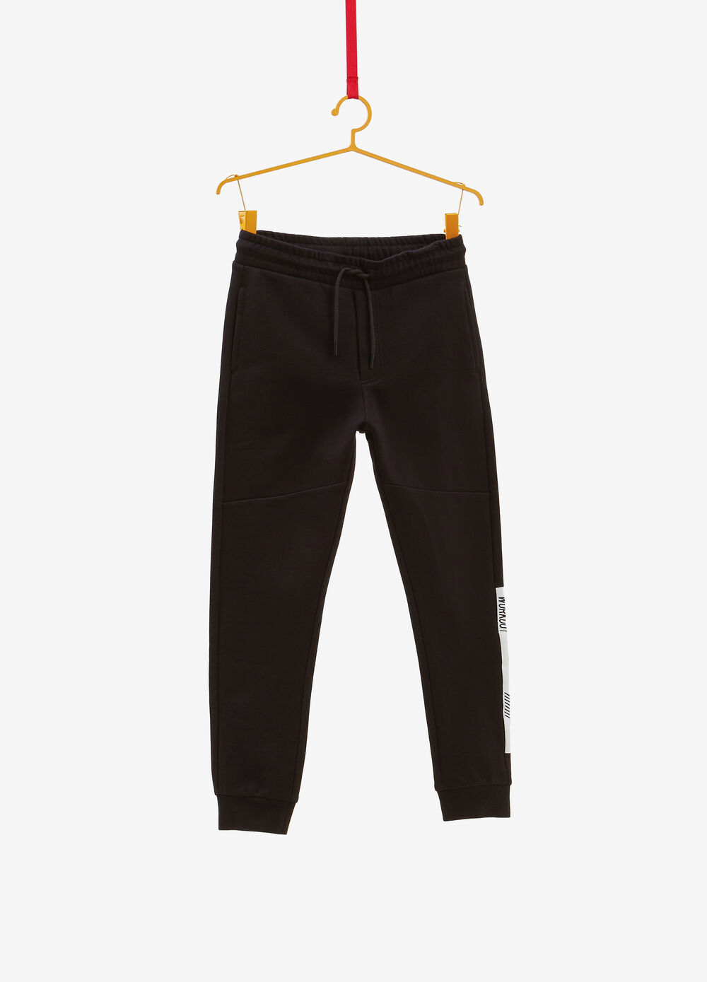 Cotton blend trousers with elastic waist band