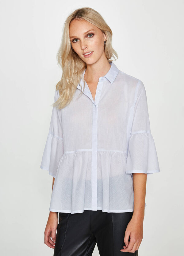 100% cotton shirt with flounce