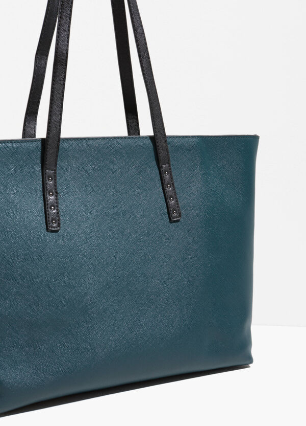 Shopping bag with contrasting handles | OVS