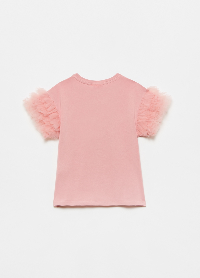 T-shirt with tulle application image number null