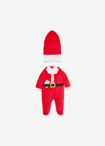 Father Christmas onesie and hat outfit