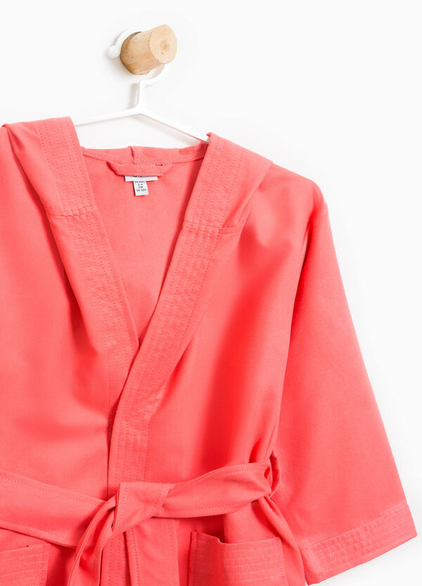 Solid colour bathrobe with belt | OVS