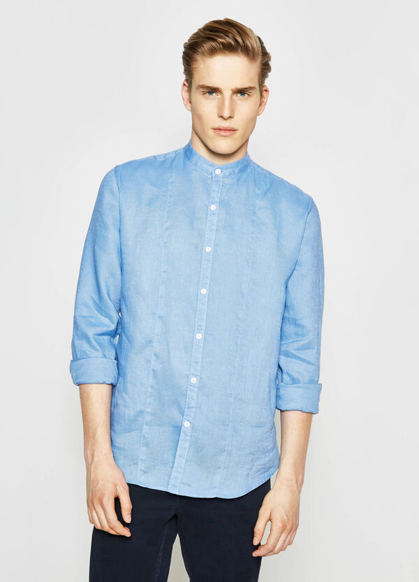 Casual 100% linen shirt | OVS