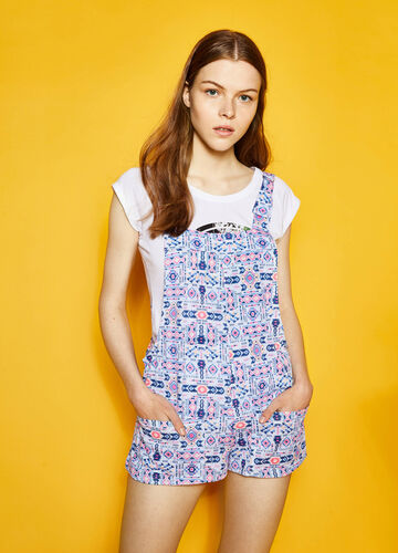 Embroidery print dungarees by Maui and Sons