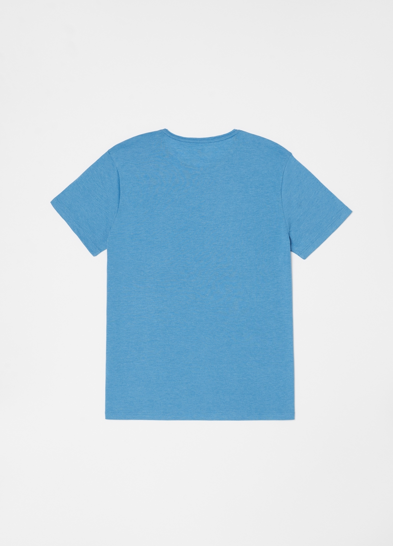 Mélange round neck T-shirt image number null
