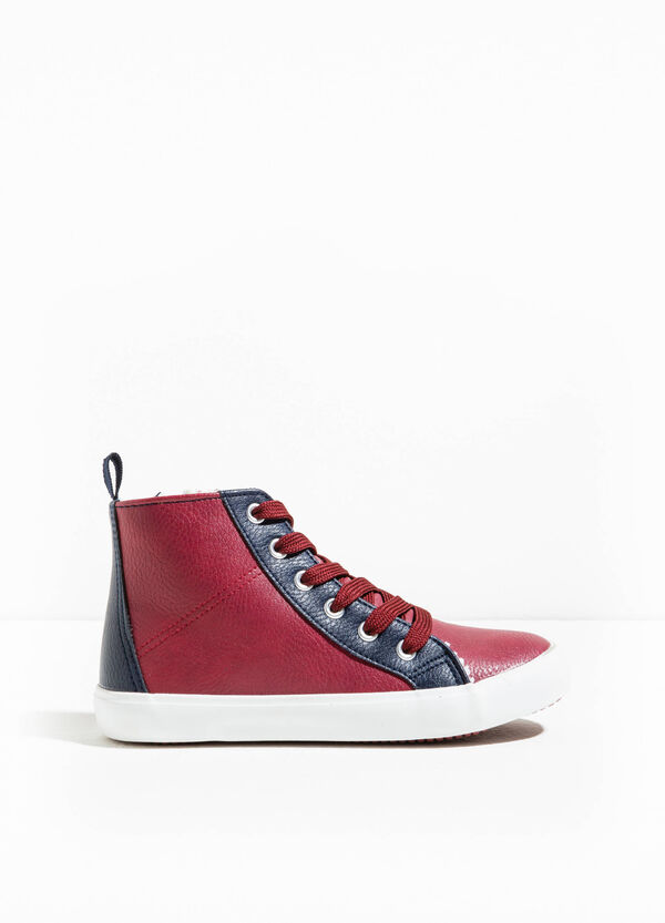 Textured-effect high-top sneakers | OVS