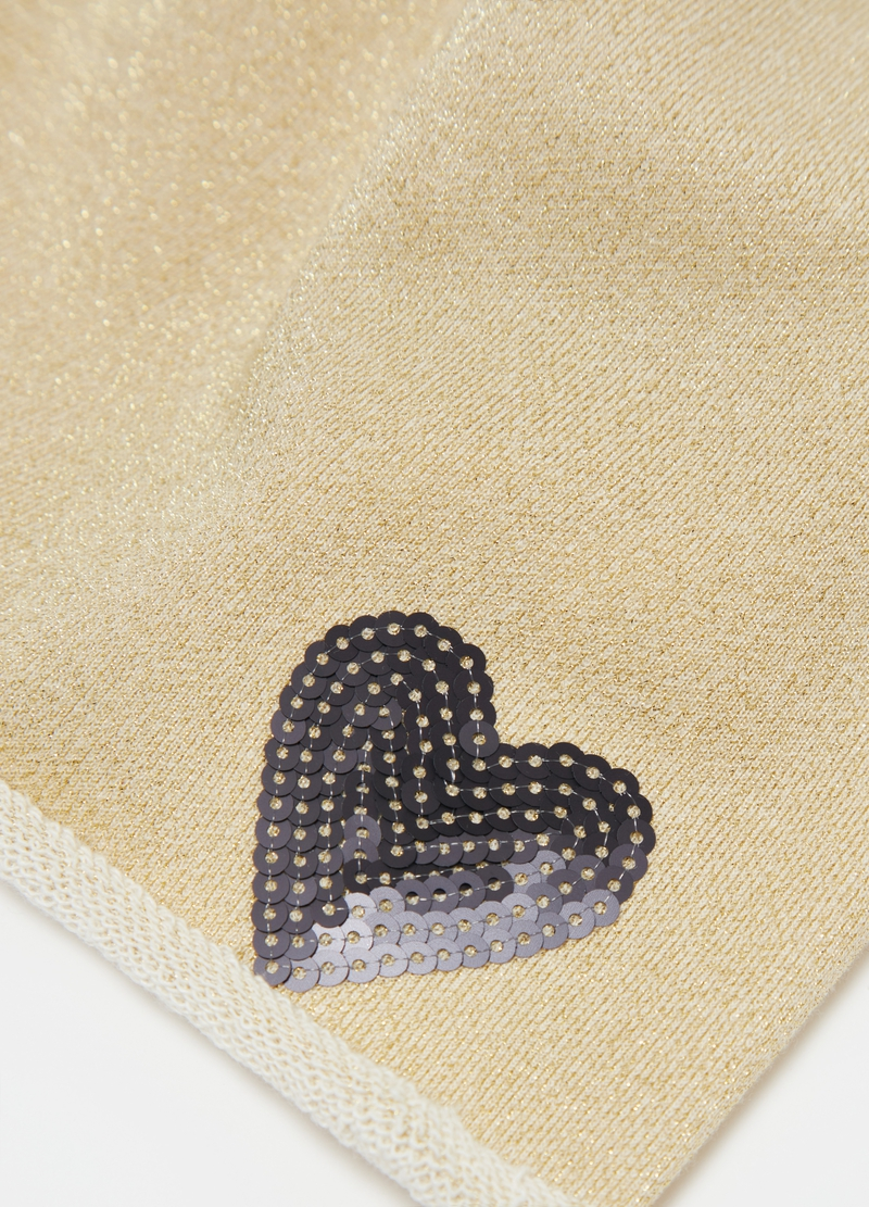 Berretto in jersey con lurex e sequins image number null