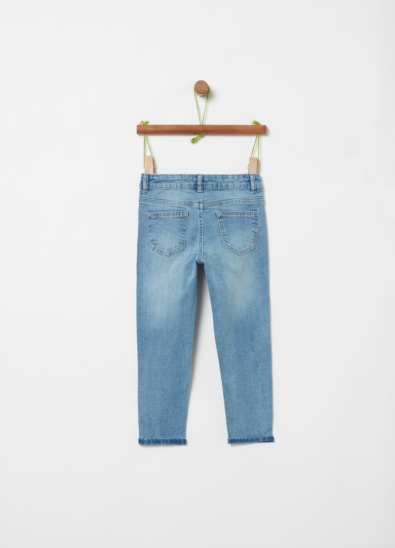 Stretch jeans with glitter edging image number null