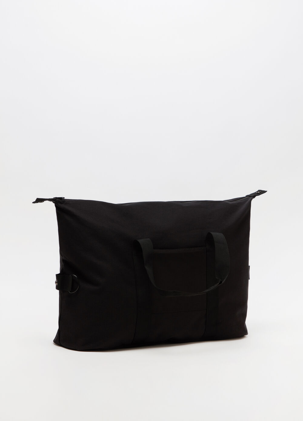 Shoulder bag cotone con tasca applicata