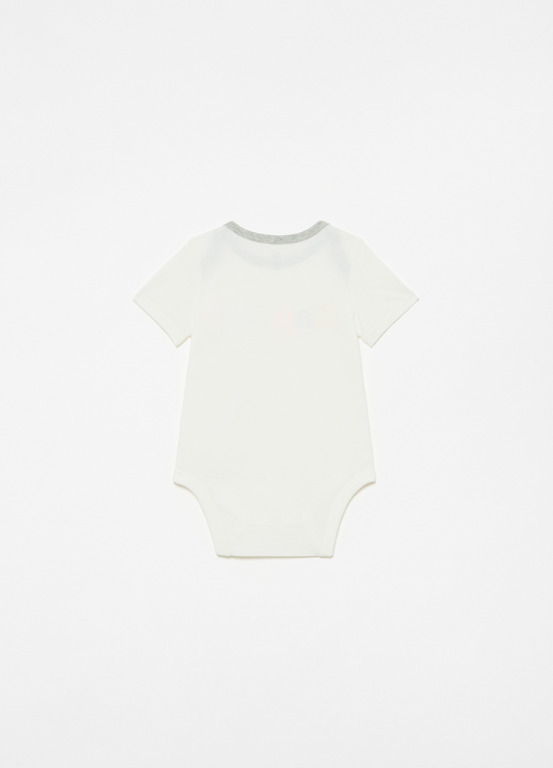 GAP cotton bodysuit with logo print image number null